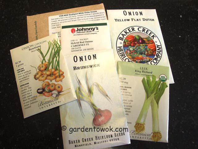 leek & onions seed package (07247)