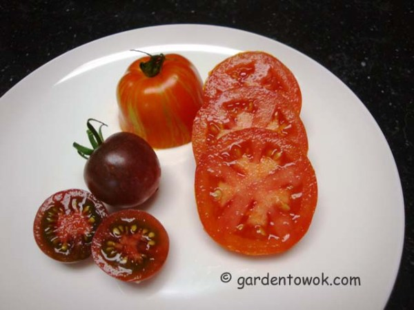 black cherry & speckled roman tomatoes (08069)